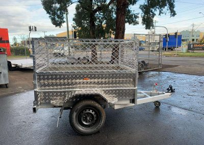 6x4 aluminum box trailer with cage (2)